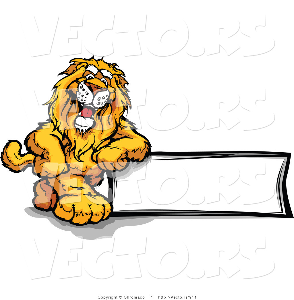 Cartoon lion mascot clipart