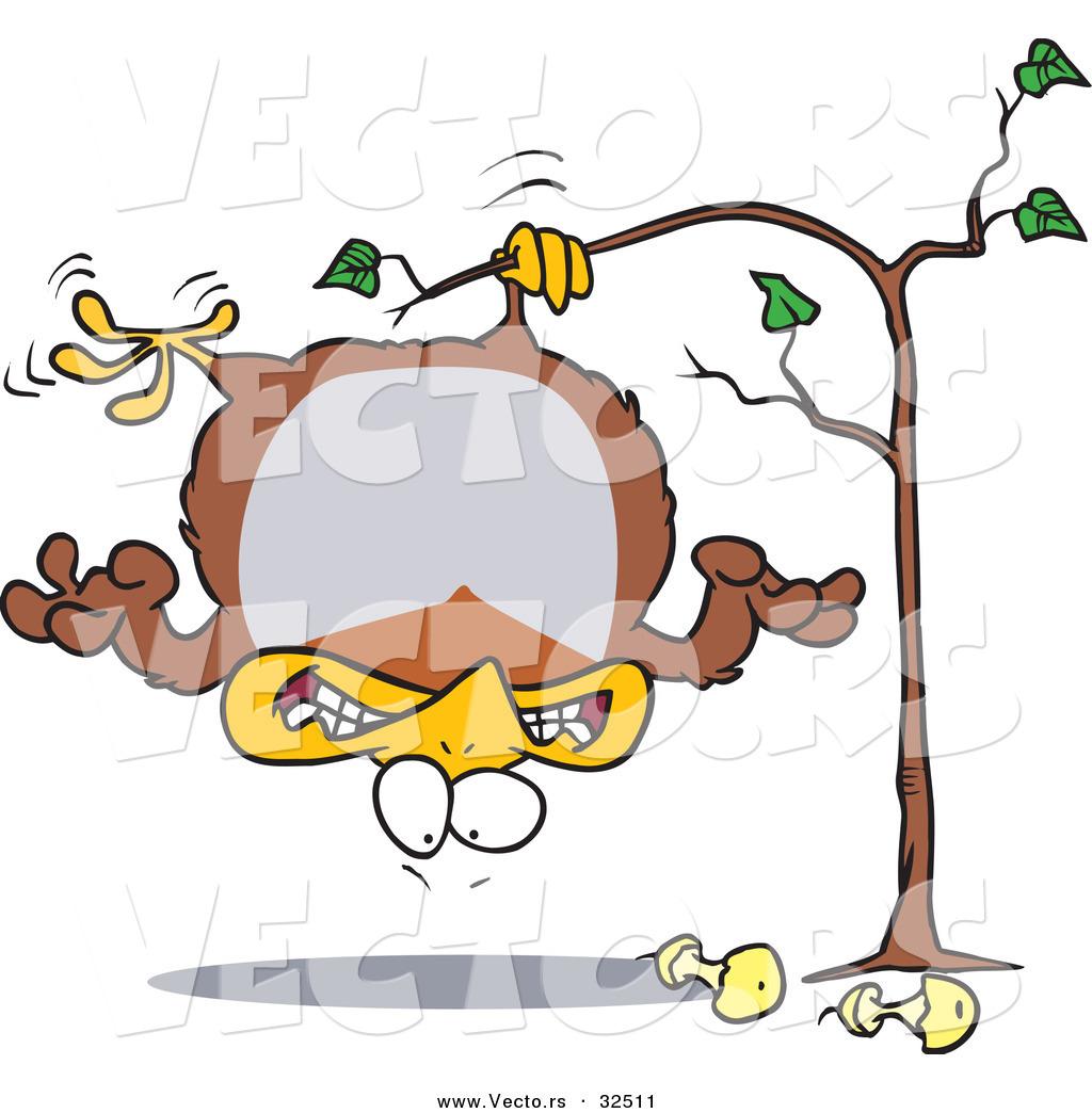 Pear Tree Cartoon Hanging in a Pear Tree