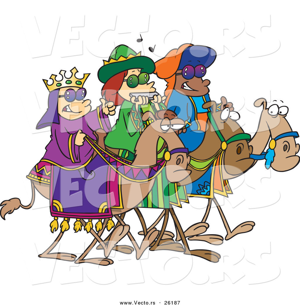 cartoon vector of a three wise children wearing shades and riding