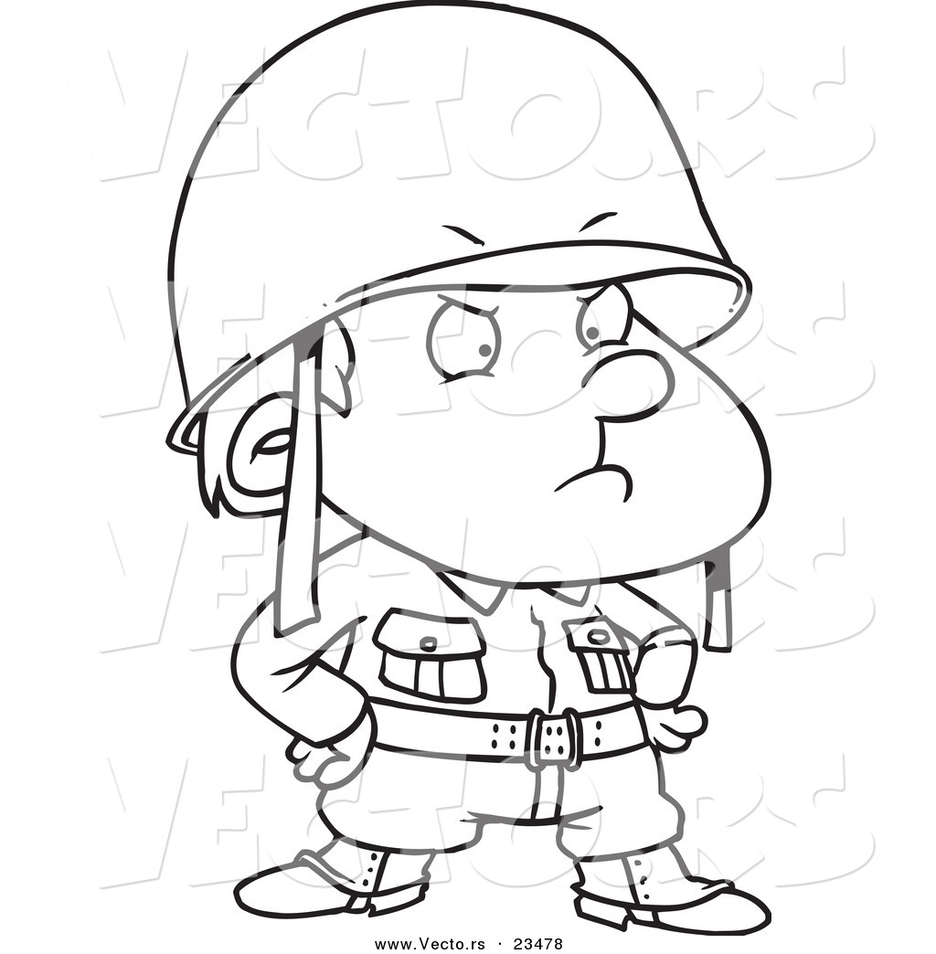 Cartoon Soldier Coloring Pages