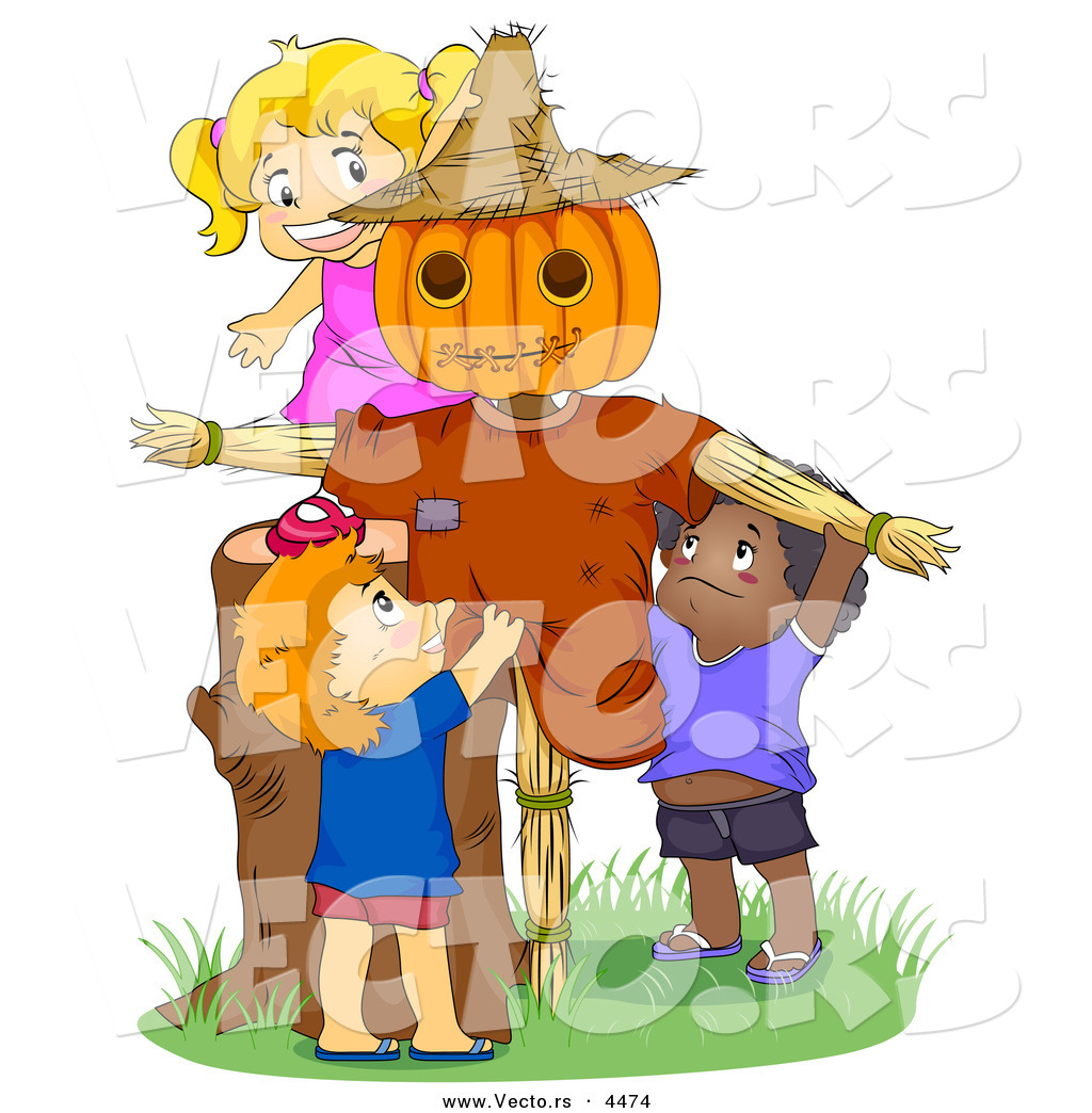 Cartoon Vector of Happy Kids