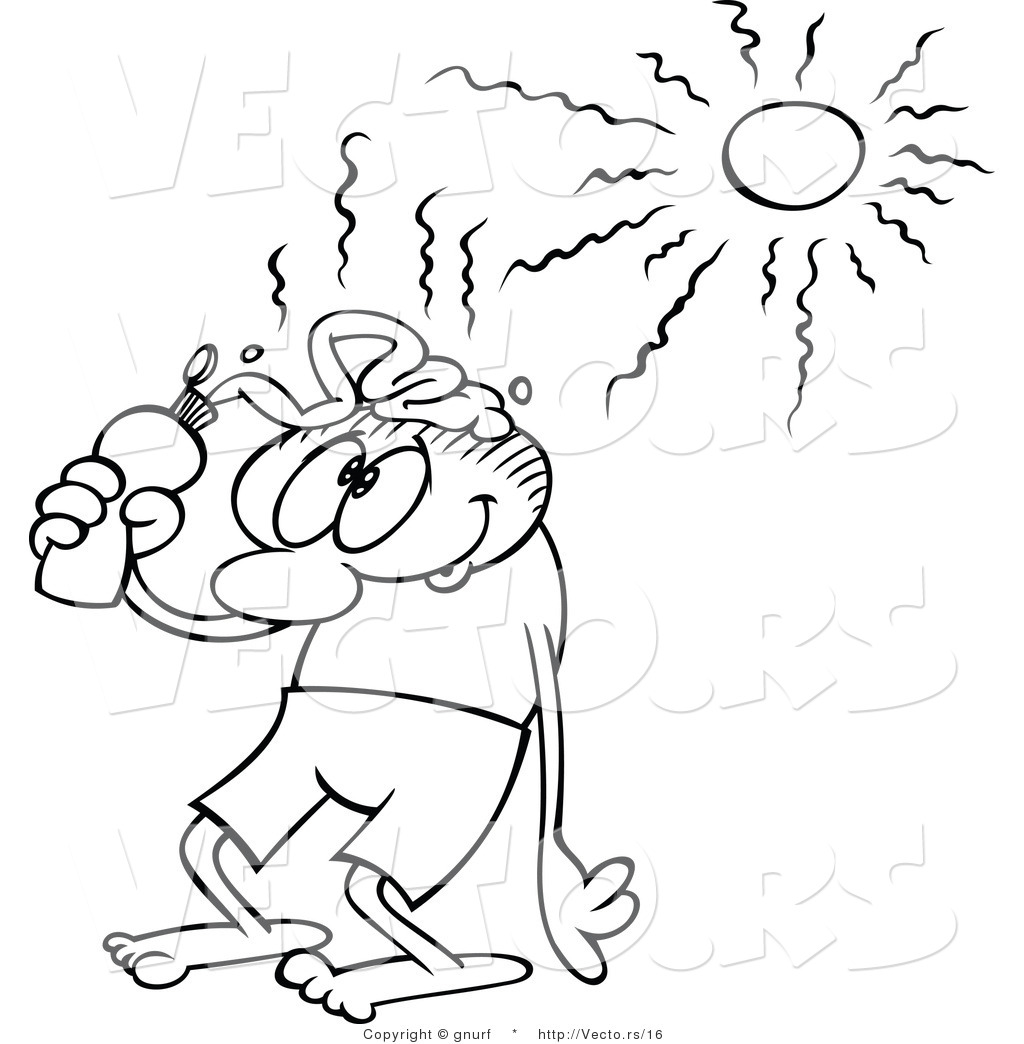 Sun Line Drawing Vector Line Drawing of a