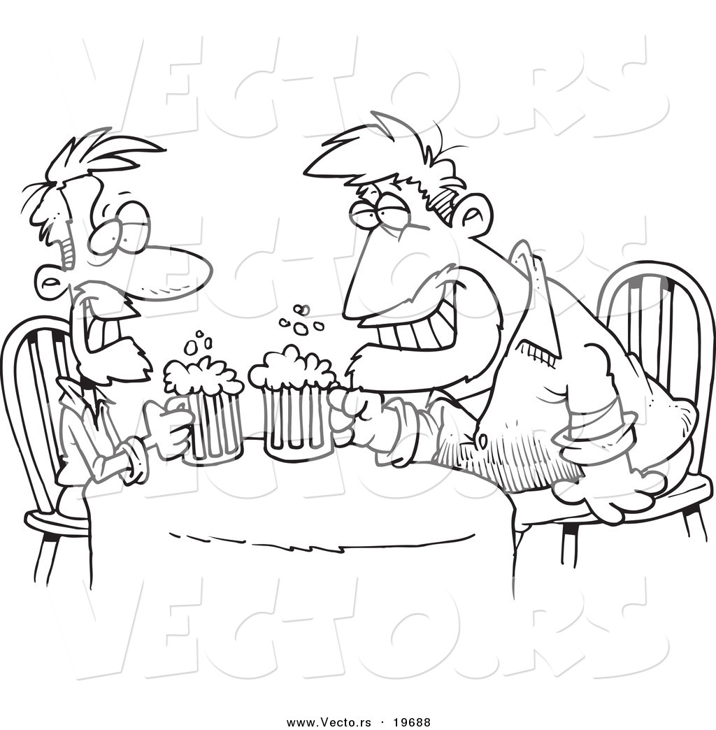 man drinking coloring pages - photo#12