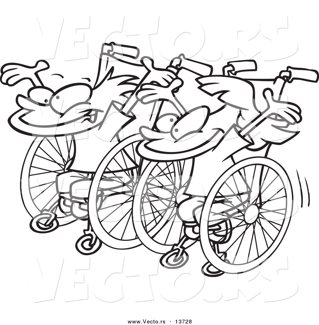 race outline colouring pages