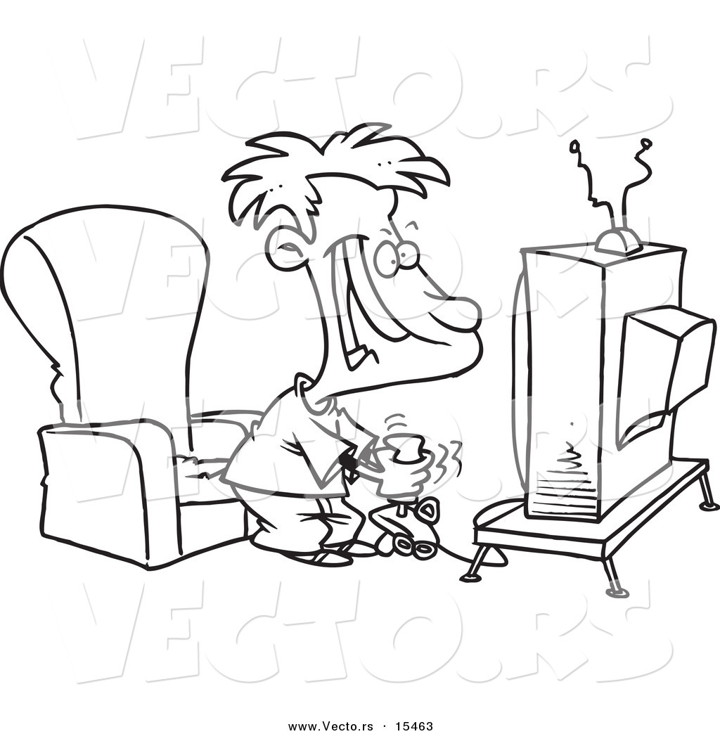 Vector Of A Cartoon Boy Playing A Video Game With A