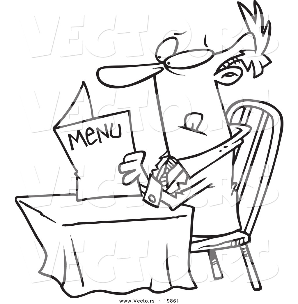 free restaurant coloring pages - photo#20