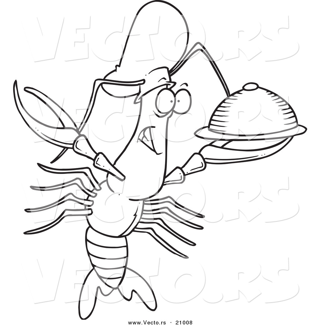 Cray Fish Colouring Pages Crawfish Coloring Page