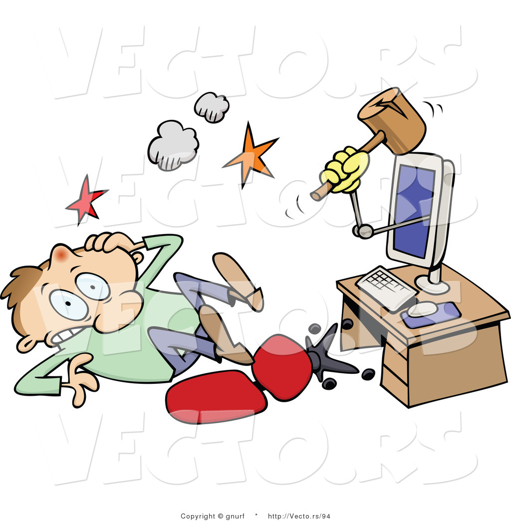 Cartoon Computer Clip Art Free
