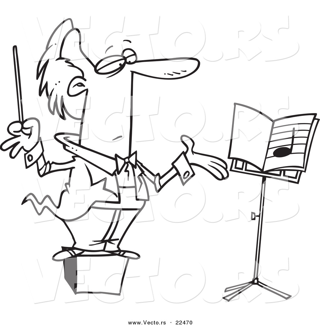 vector of a cartoon conductor orchestra conductor cartoon