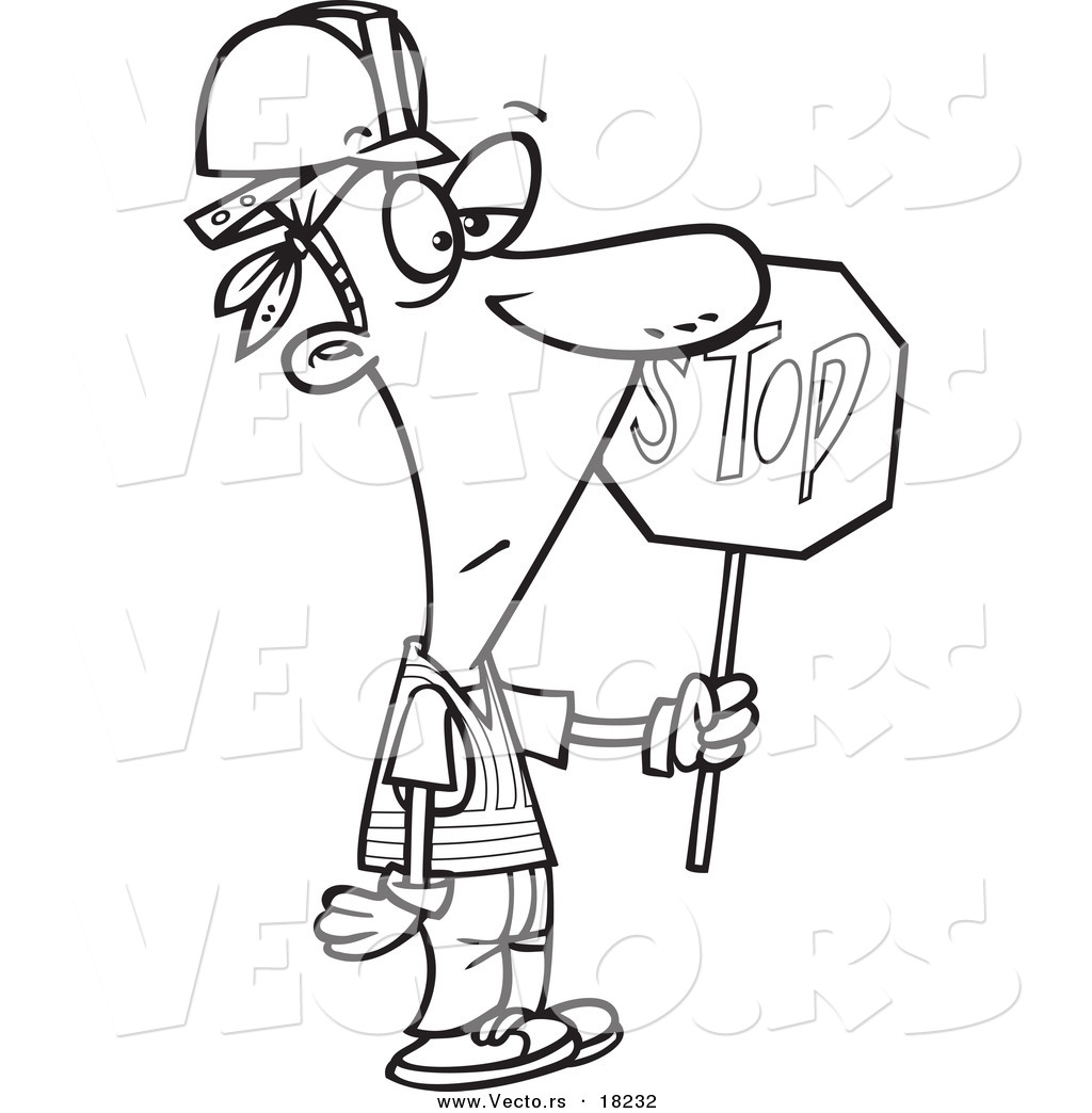 construction sign coloring pages - photo#38