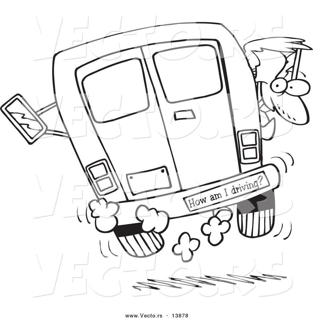 Cartoon Crazy Driver