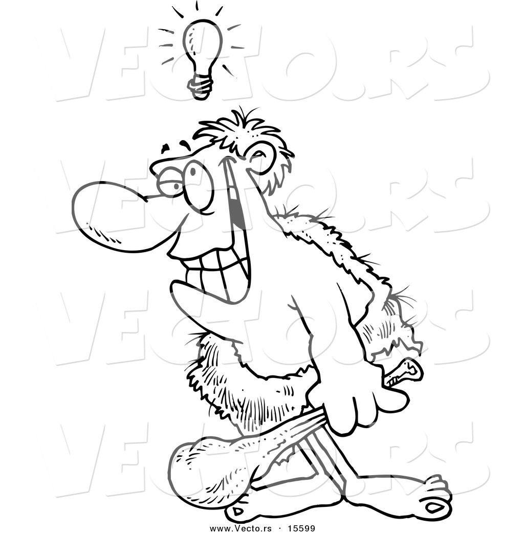 cave man coloring pages - photo#27