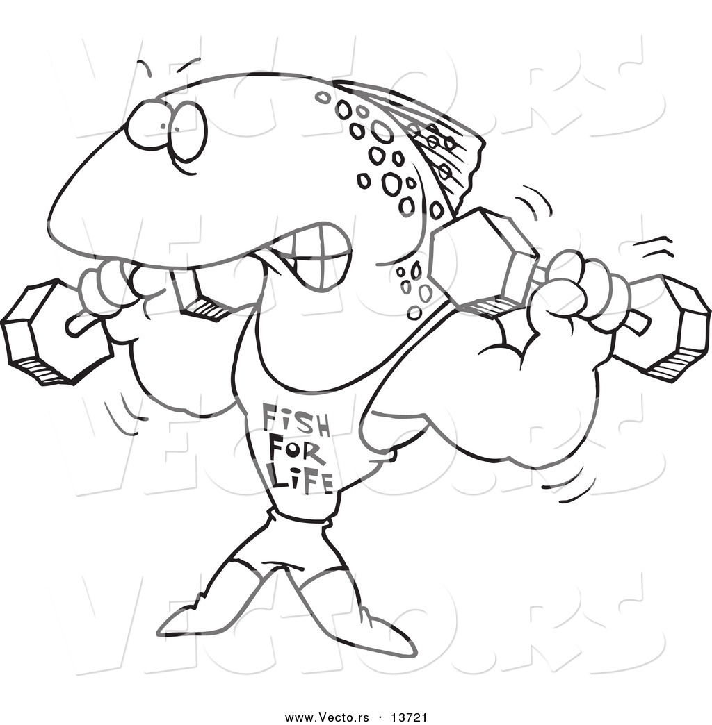 Bodybuilding cartoon for Weightlifting coloring pages