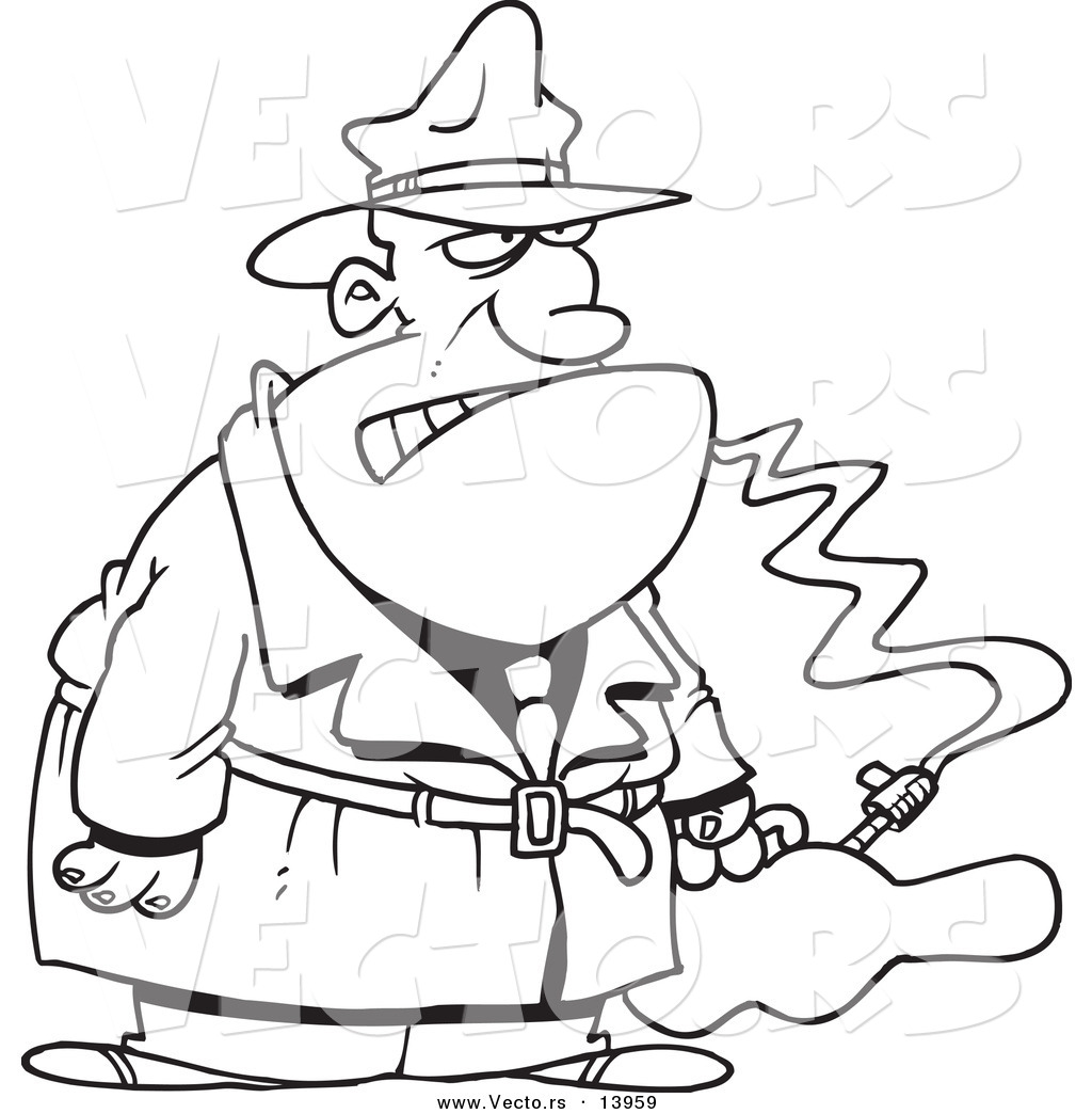 Gangster Cartoon Characters Coloring Pages