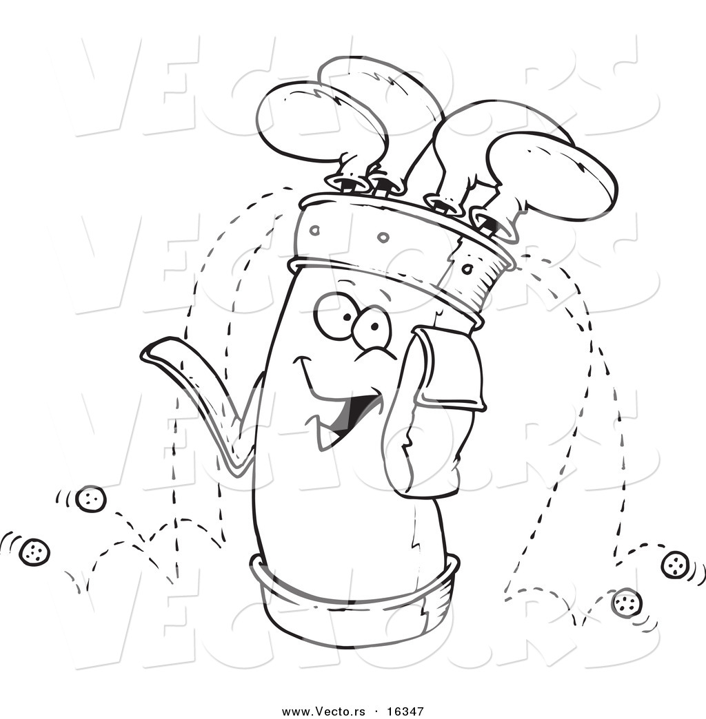 golf bag coloring page - vector of a cartoon golf bag outlined coloring page