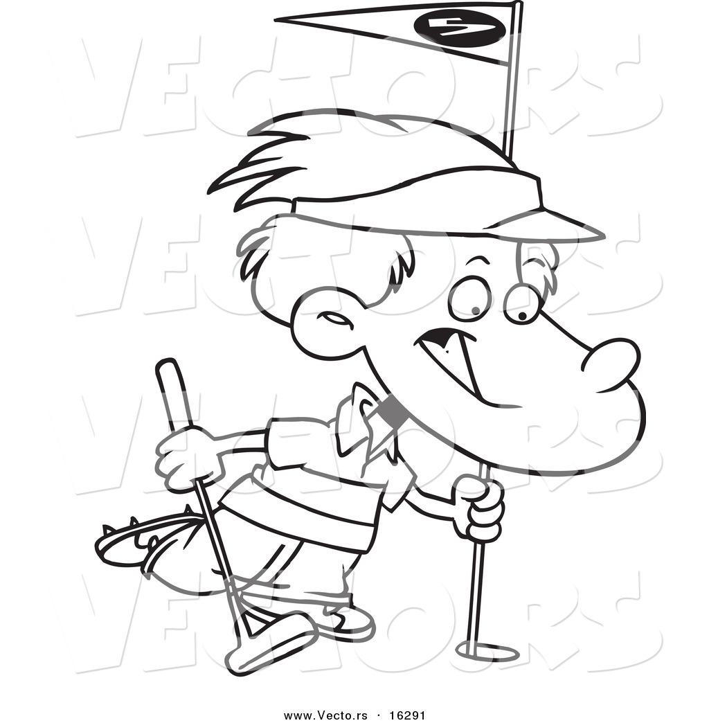 Kid Golf Cartoon Kids Golf Clip
