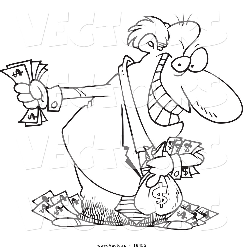 Greedy Businessman Clipart