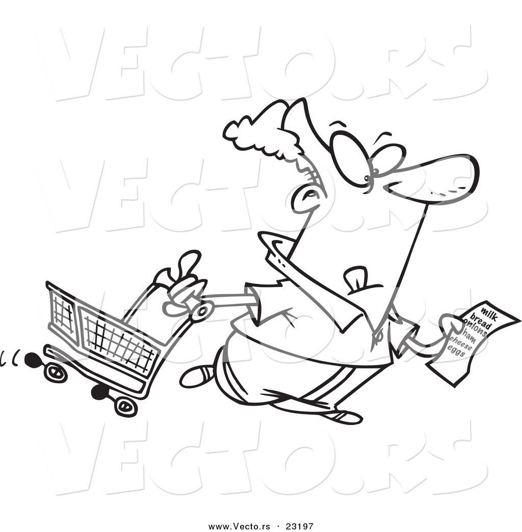 Grocery store for Grocery shopping coloring pages