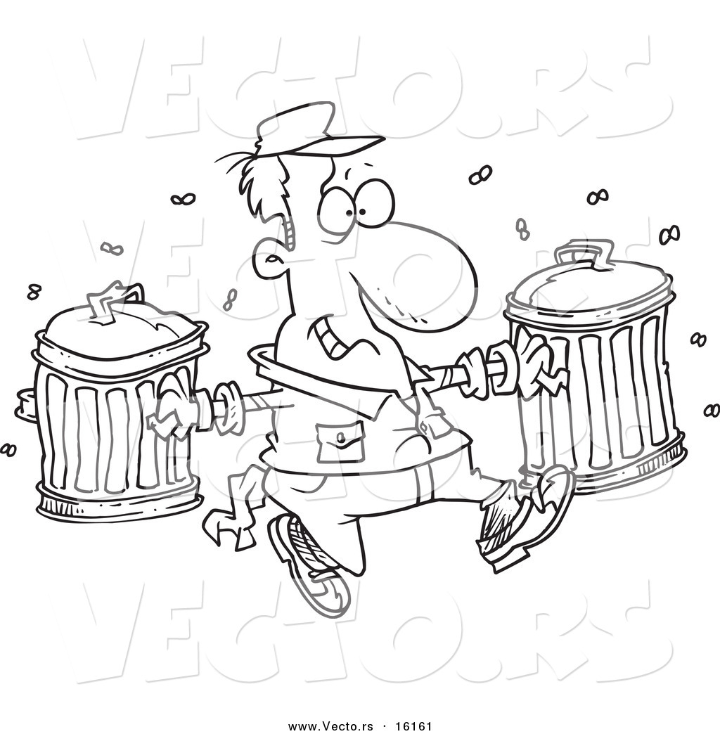 Garbage Man Coloring Page