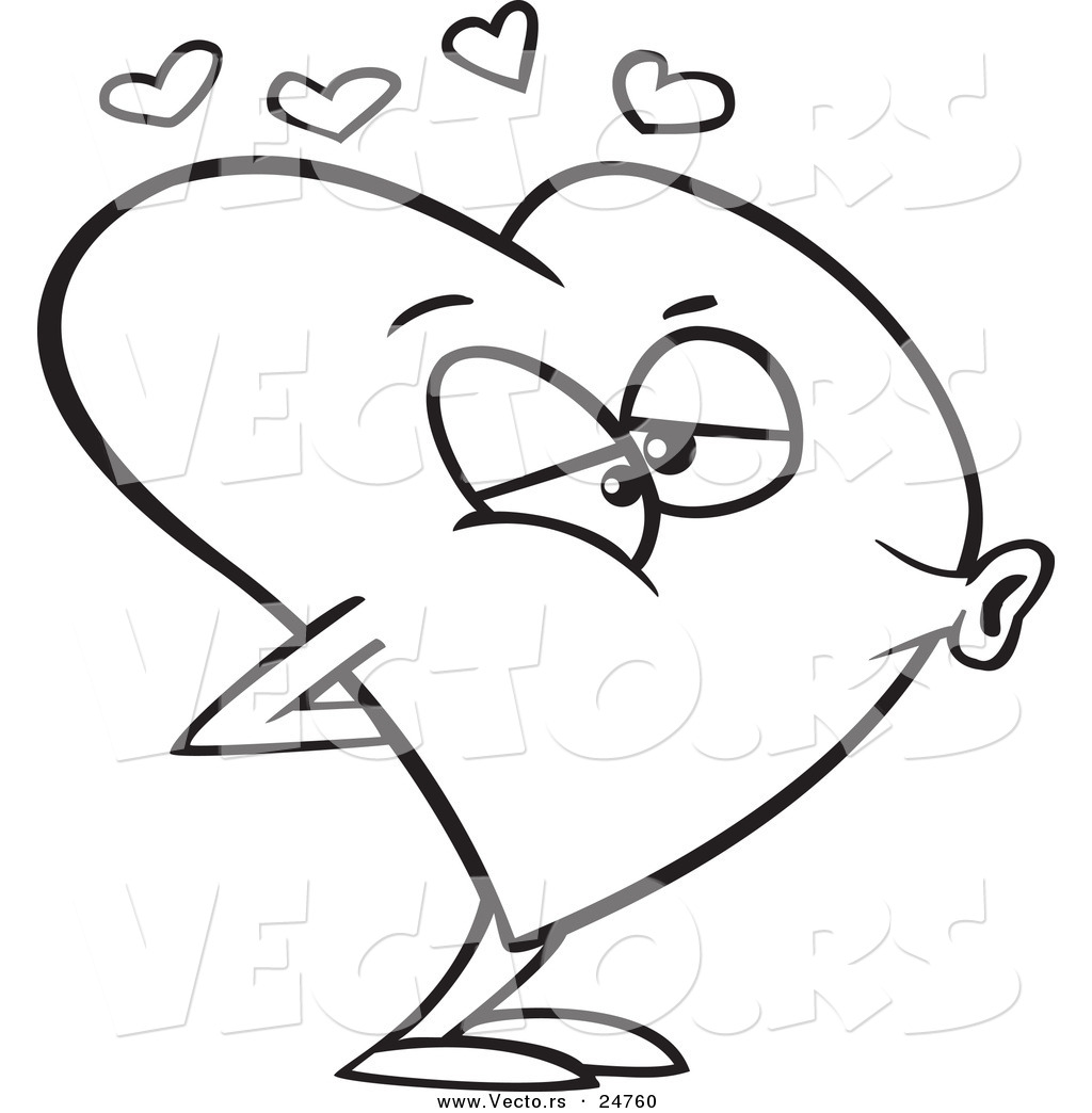 hearts and kisses coloring pages - photo#13