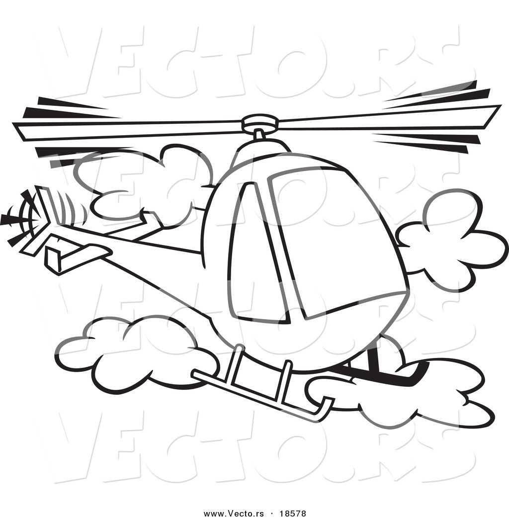 Vector of a Cartoon Helicopter