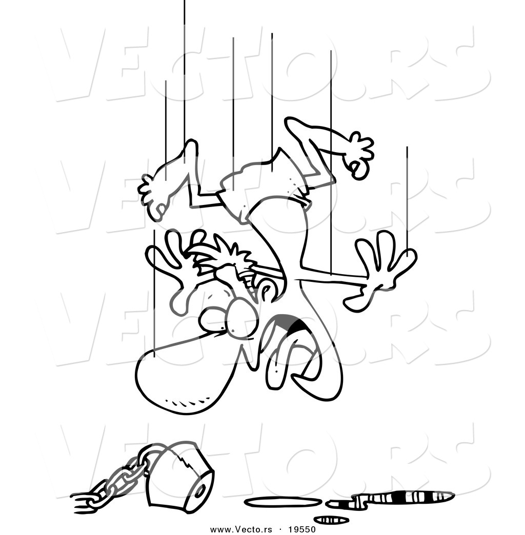 Vector Of A Cartoon Man Jumping In An Empty Pool Outlined Coloring Page By Toonaday 19550 on cartoon person falling down