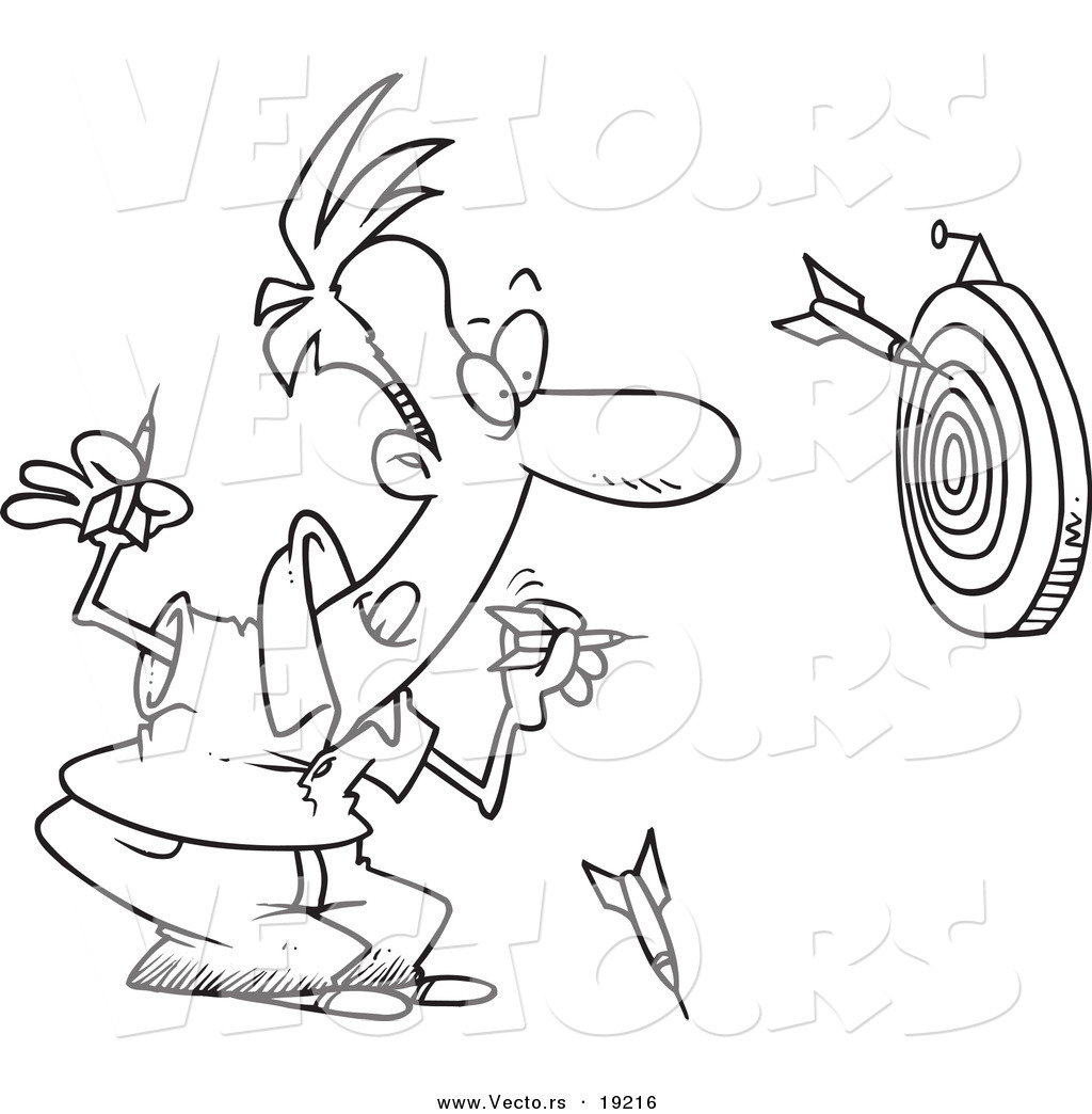 dart board coloring pages - photo#42