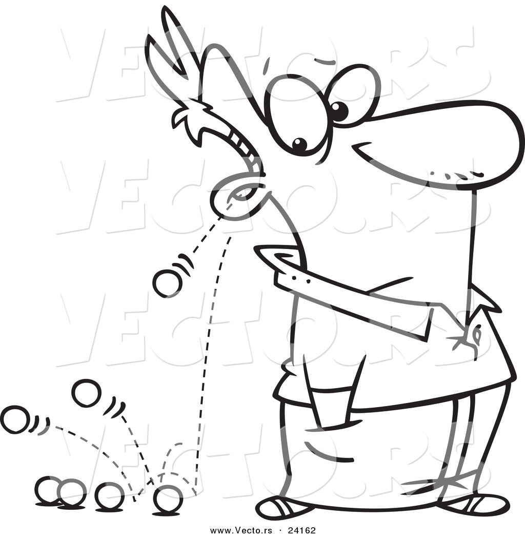 vector of a cartoon man u0026 39 s ears - coloring page outline by toonaday