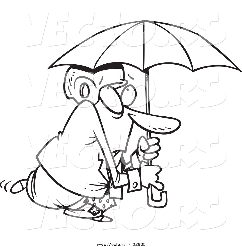 umbrella coloring page cool winter clothes coloring page with