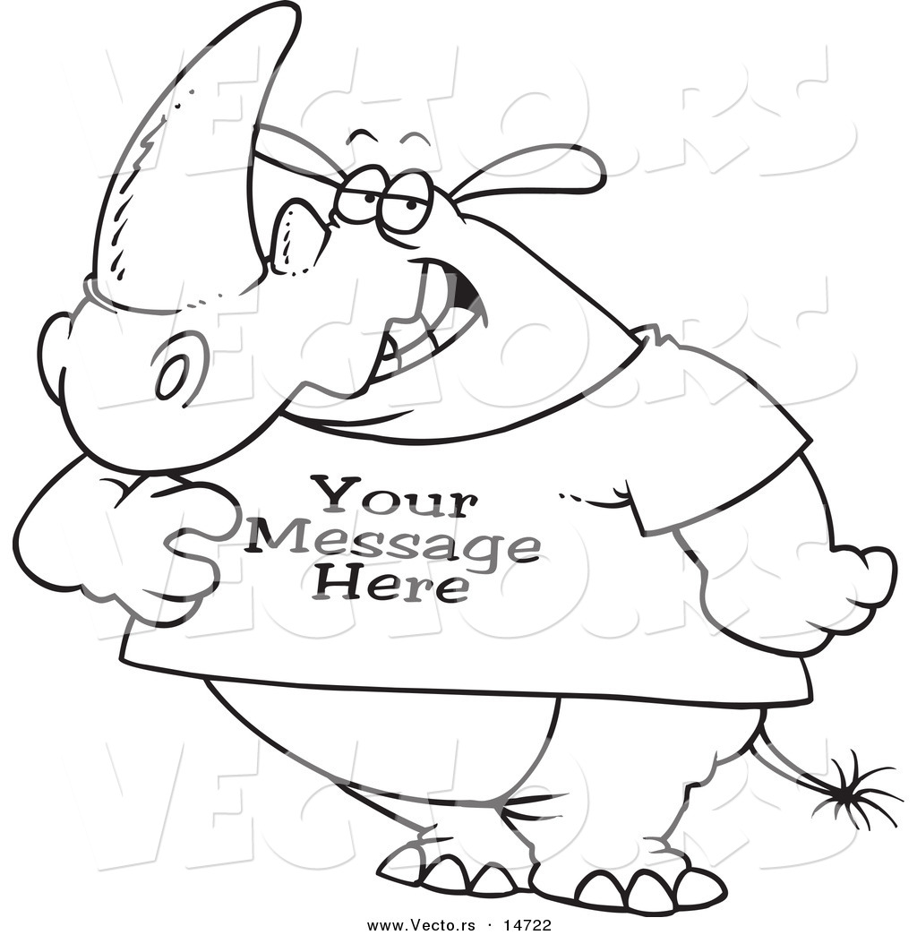 Rhino Coloring Pages #5