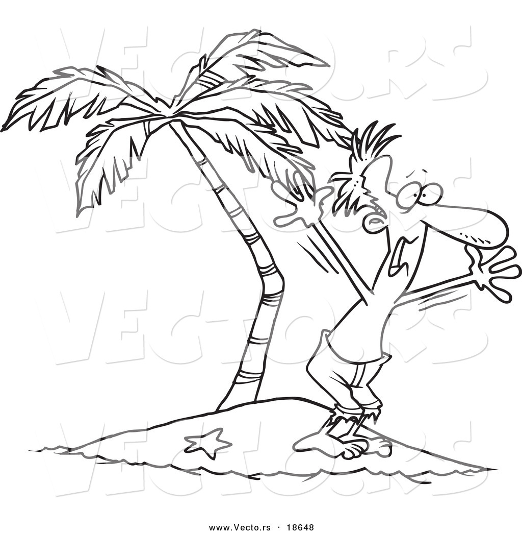 Free Coloring Pages Of A Deserted Island