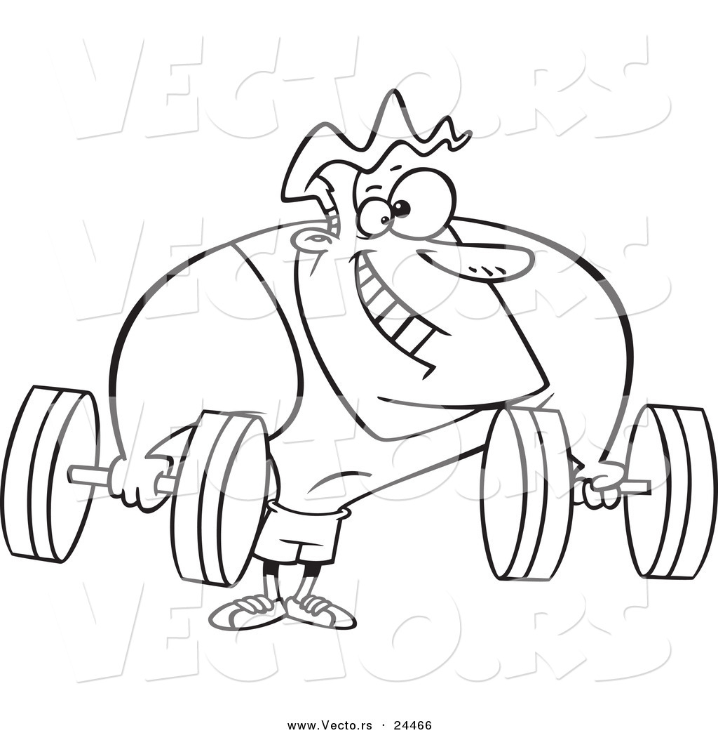 free strong man coloring pages - photo#29