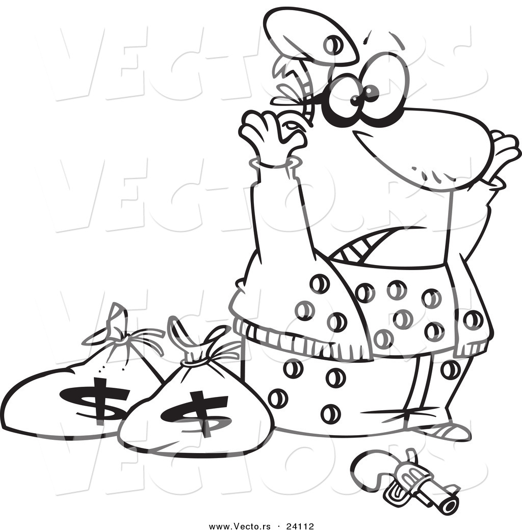 robber coloring pages - photo#7