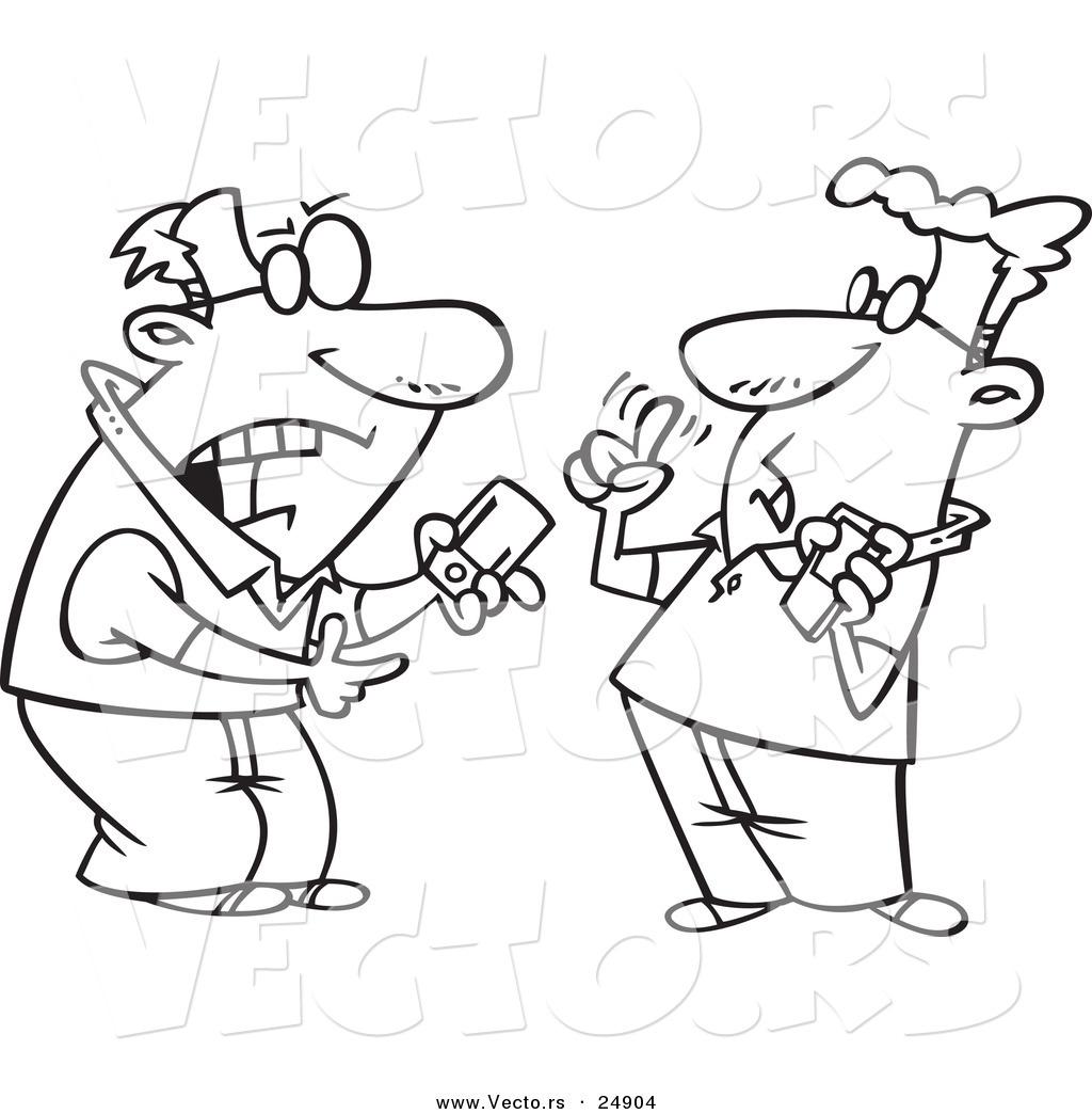 vector of a cartoon techie men having a debate over