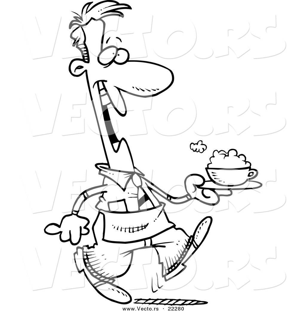 waitress coloring pages - photo#39