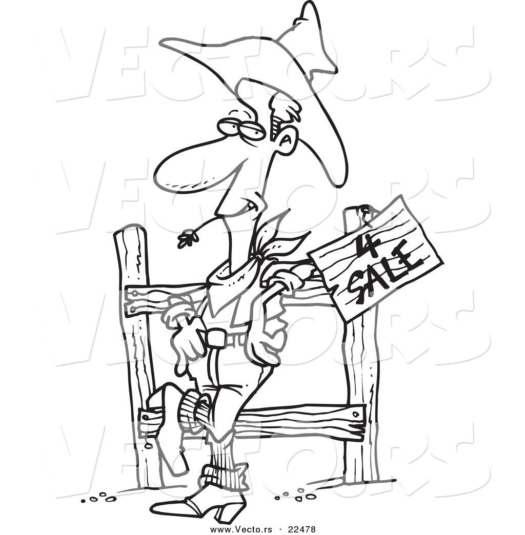 Cartoon Western Cowboys