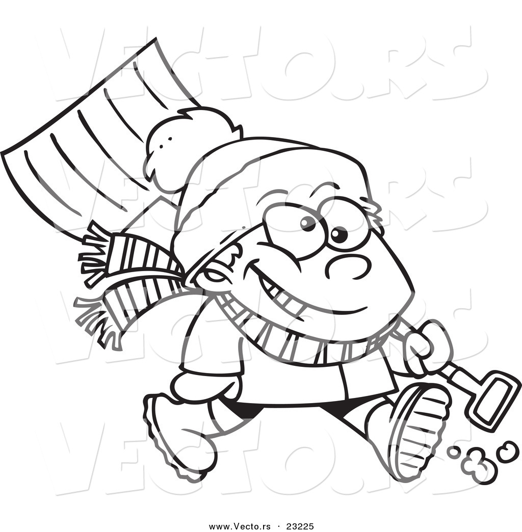 Cartoon Winter Coloring Pages