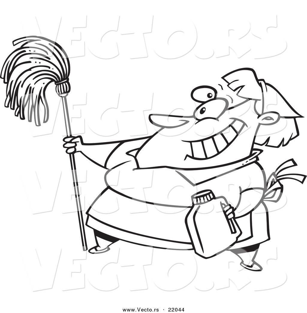 mother house cleaning coloring pages - photo#15