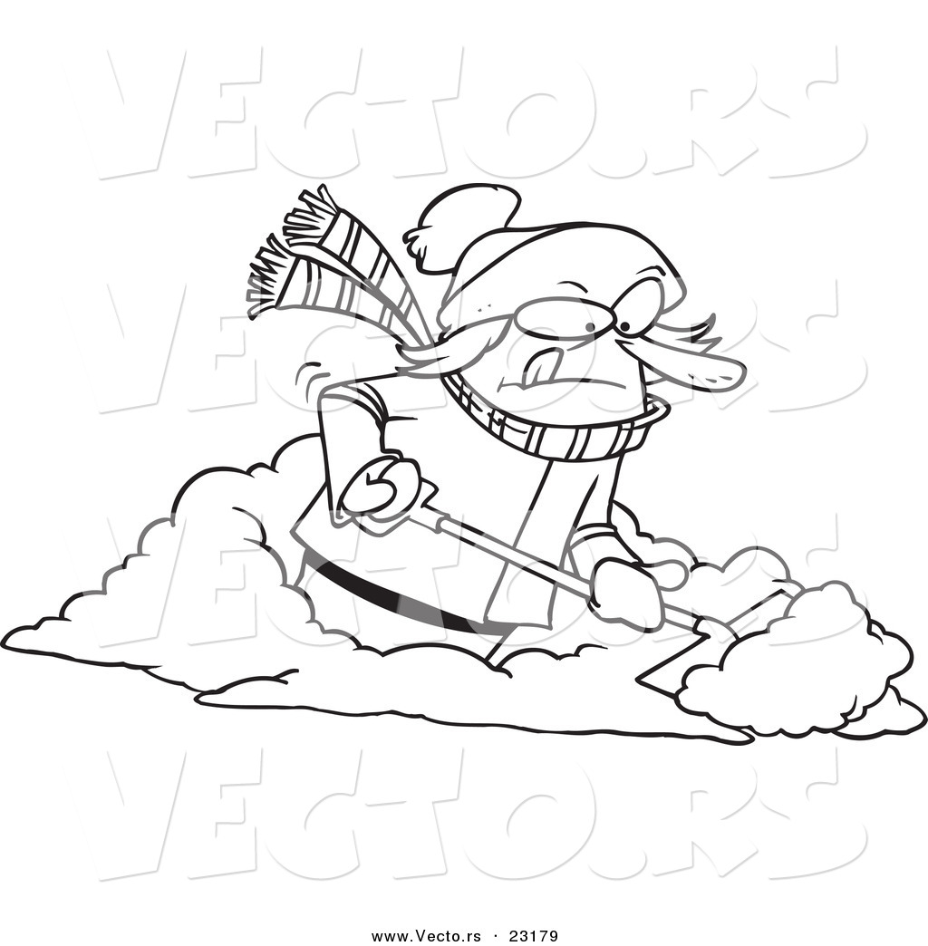 snowman shovel coloring pages - photo#21