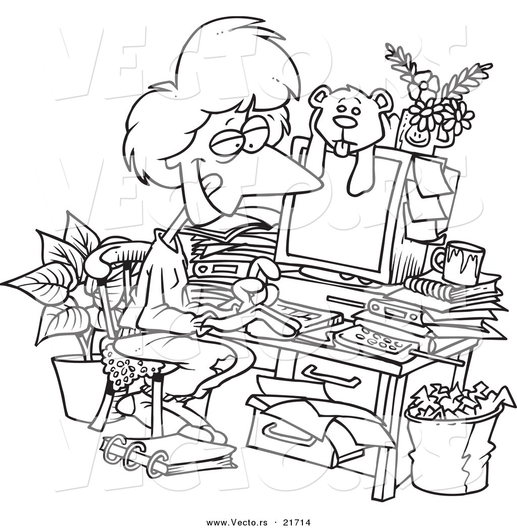 office adminstator coloring pages - photo#38