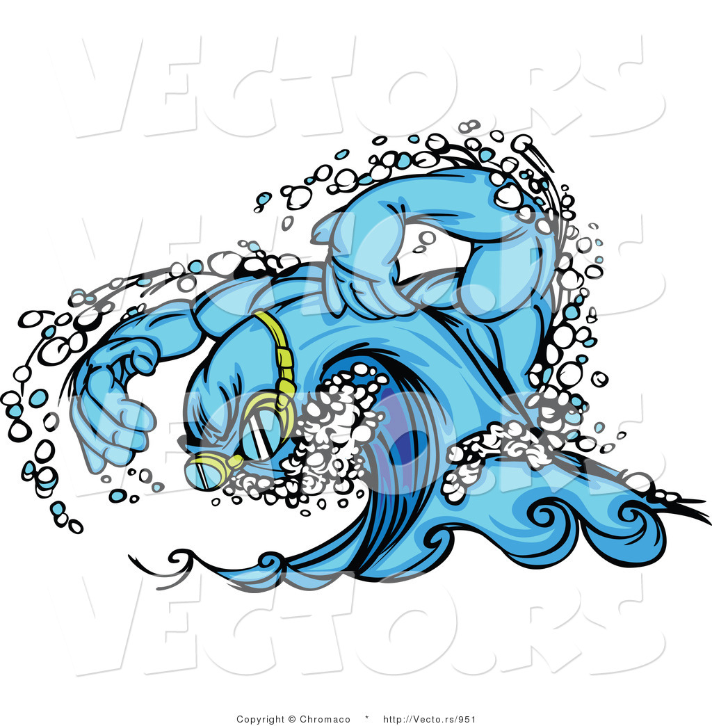 Tidal Wave Clipart Royalty free stock clipart of