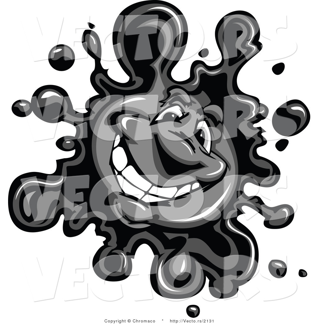 Ink Splatter Logo Black Ink Splatter Mascot