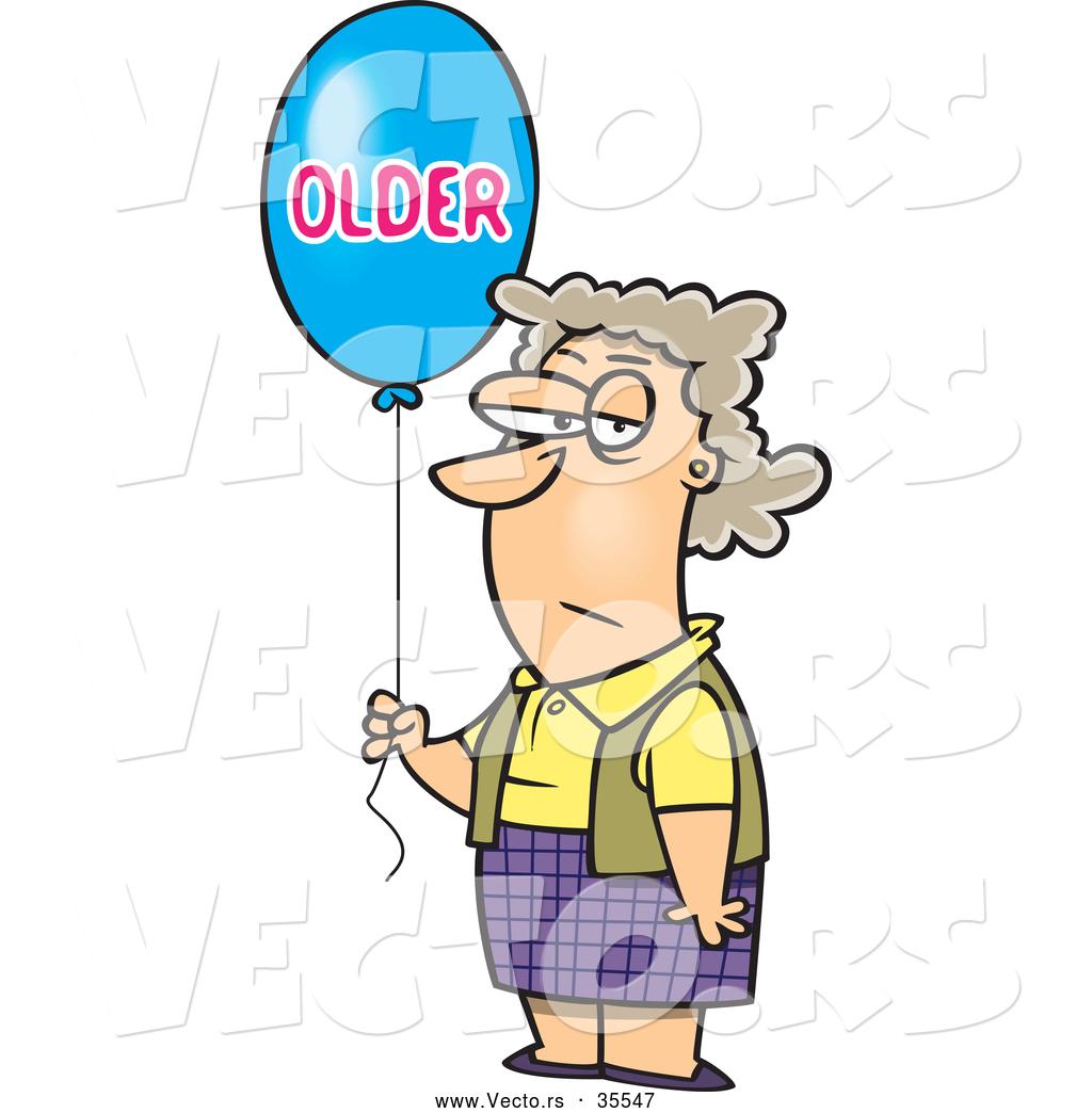 vector-of-a-grumpy-cartoon-birthday-woma