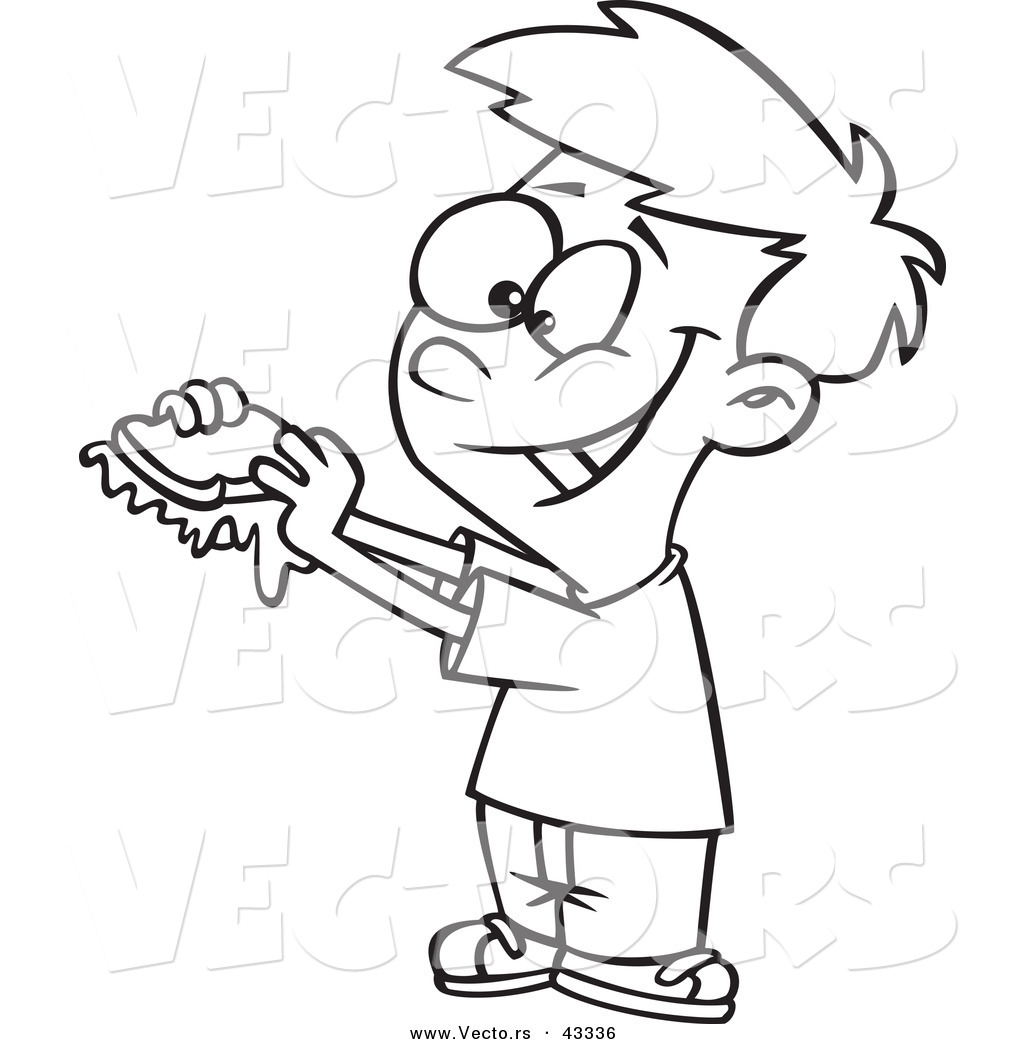 giant jam sandwich coloring pages - photo#18