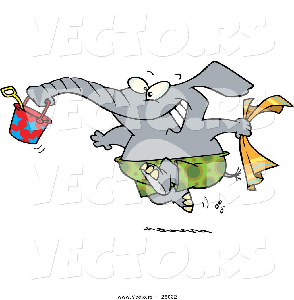 Happy elephant clipart