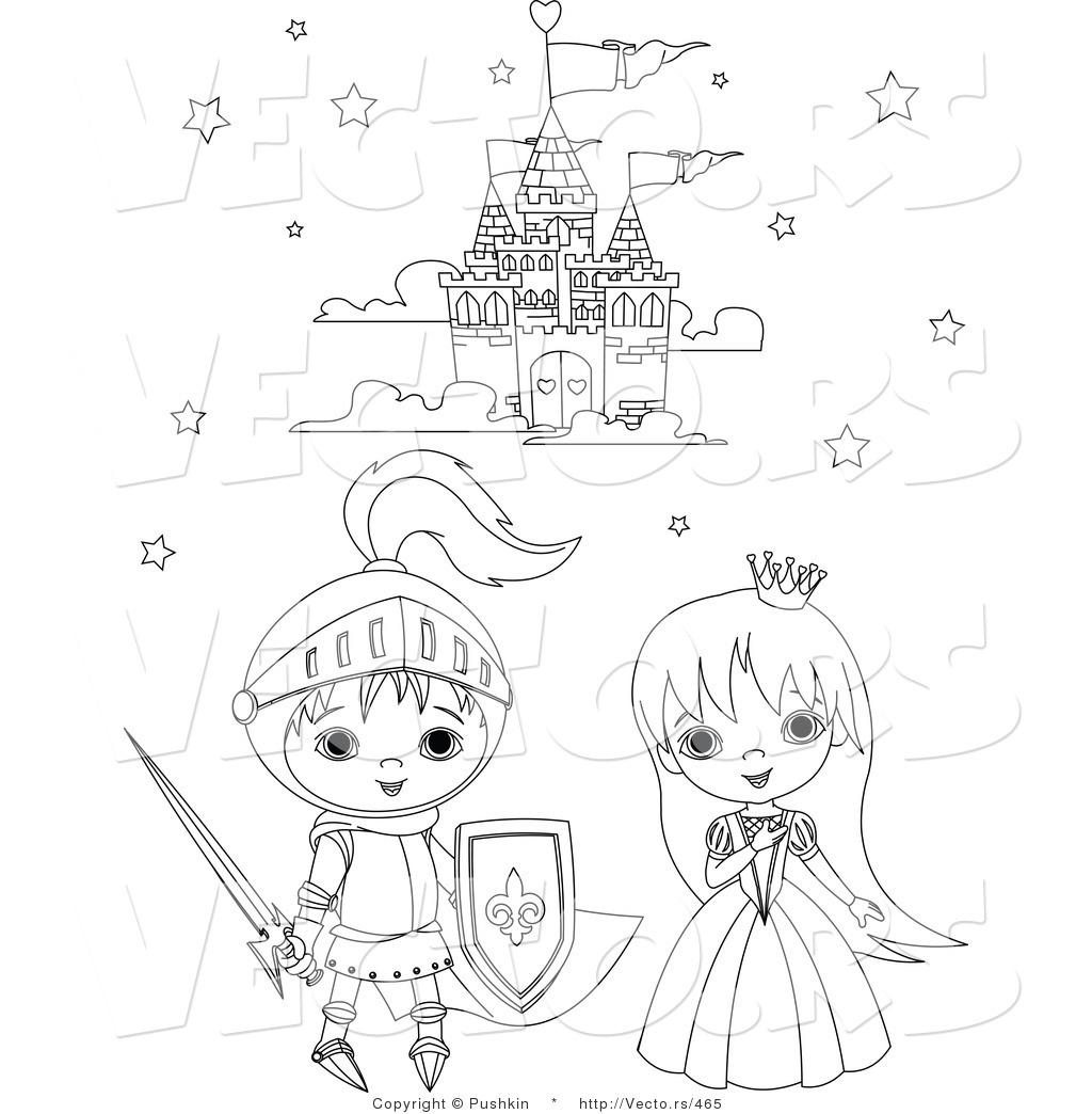 Vector of a Knight and Princess