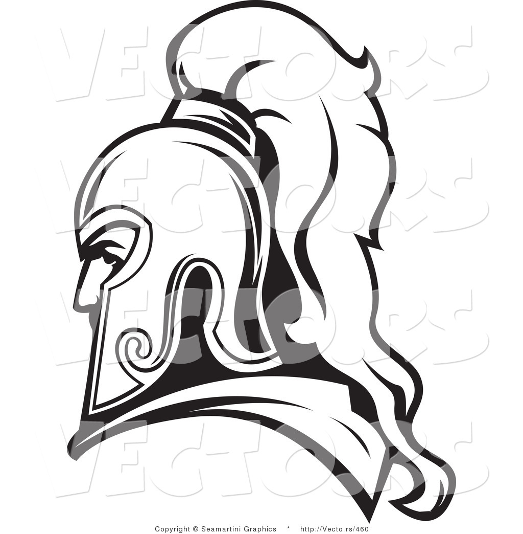 Vector Of A Roman Soldier Line Drawing Avatar By