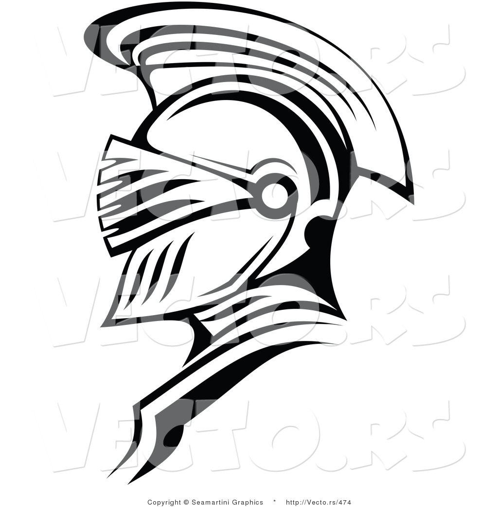 Helmet Outline Roman Soldier Helmet Outline