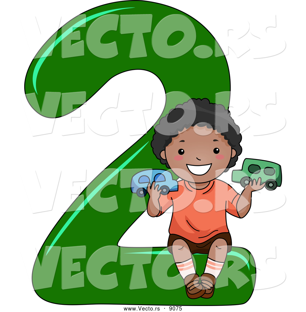 Vector of a Smiling Cartoon Black School Boy Holding 2 Cars on the ...