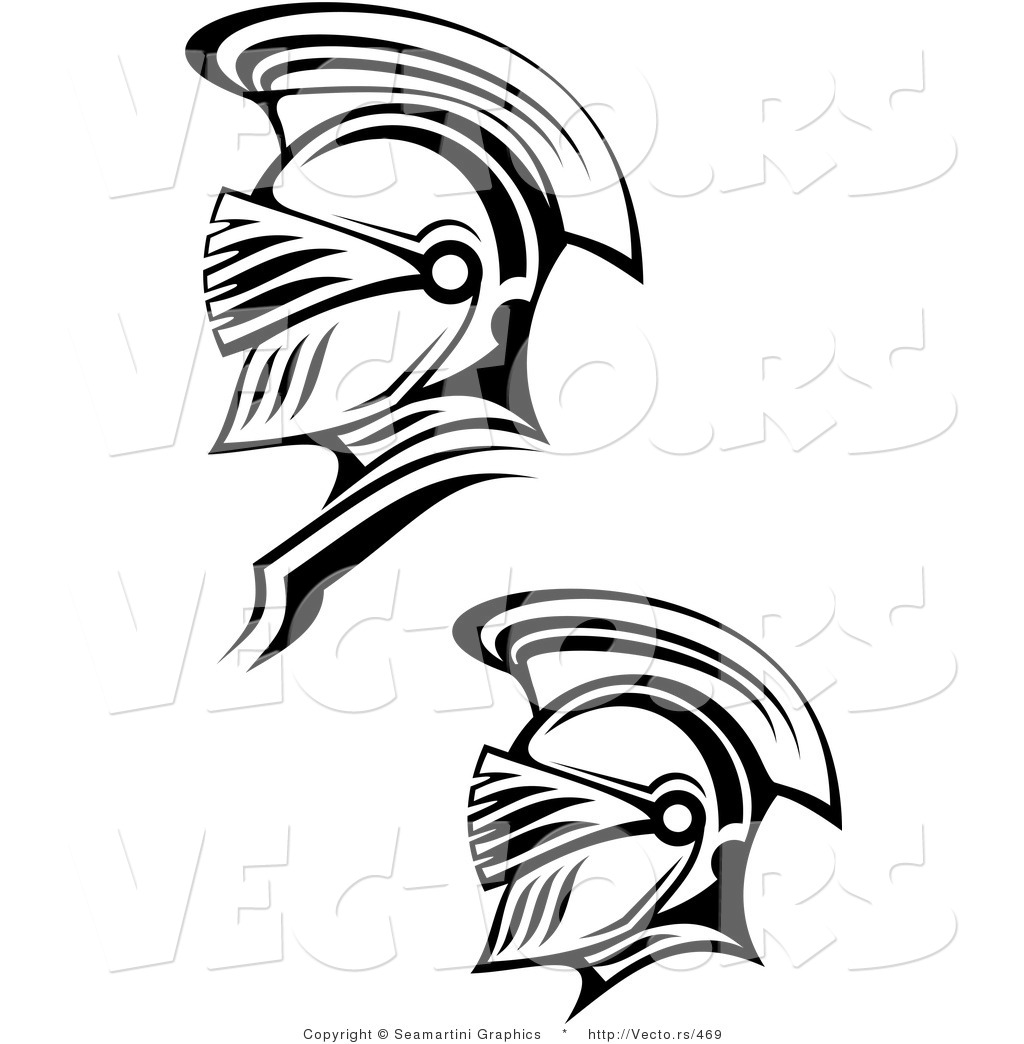 Line Drawing Vector Graphics : Vector of a two roman soldiers line drawing by
